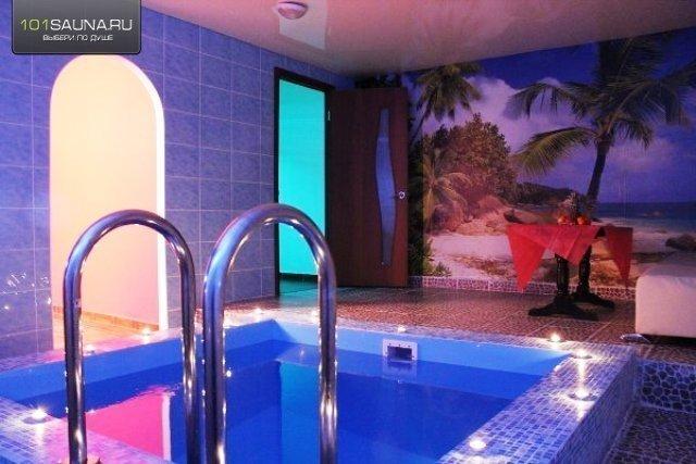 Оцените сауну. бассейн, можно с веником, зона отдыха, обливное ведро, неоно